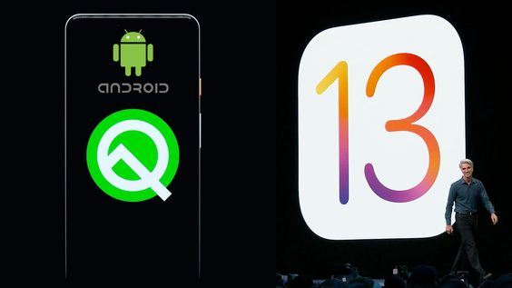 Android Q and iOS 13