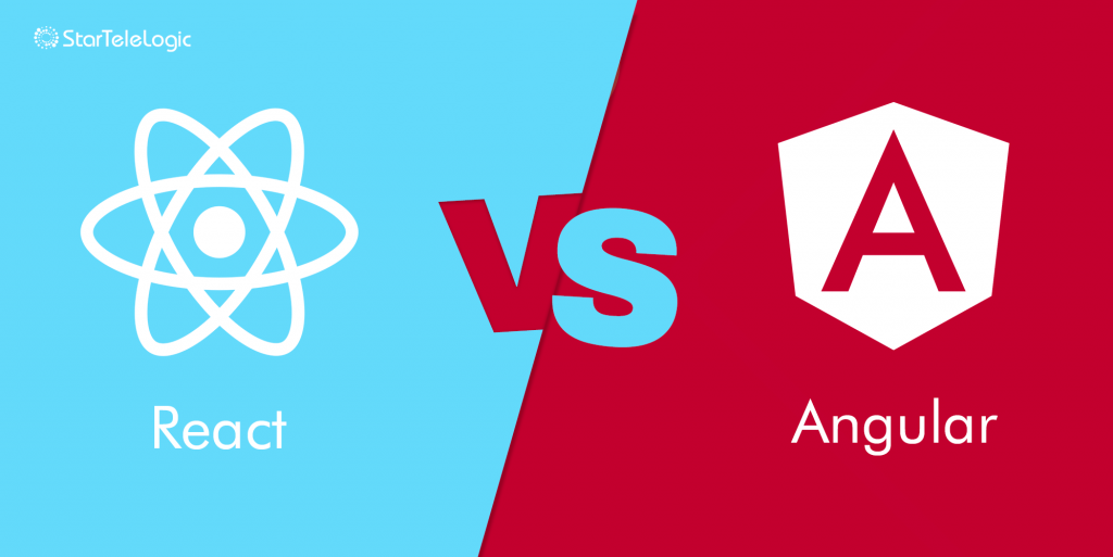 react-vs-angular web development company and services by StarTele Logic